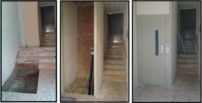 Ascensor diseñado para la rehabilitación de edificios existentes sin ascensor