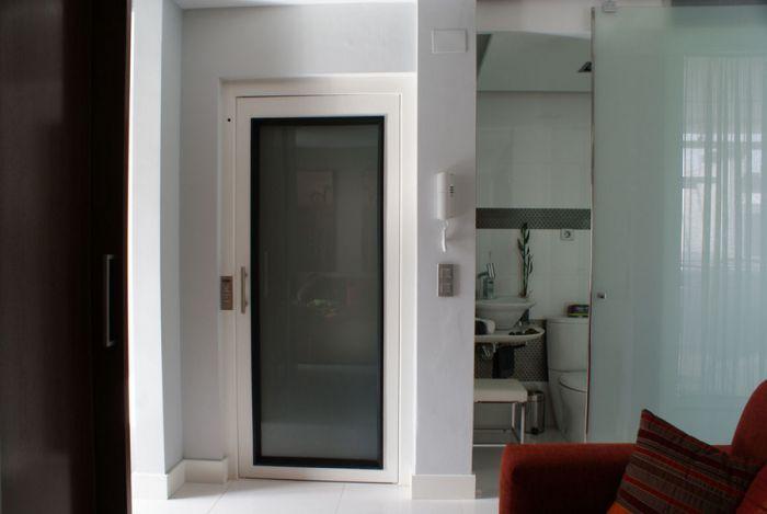 Ascensor unifamiliar instalado en vivienda particular