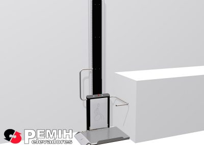 Platraformas salvaescaleras vertical modelo hdp-v